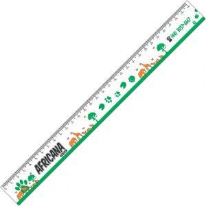Régua Plástica tipo Escolar de 30cm – Escala em cm – Impressão em UV [Cód. R30UV]