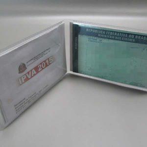 Carteira Despachante Simples Horizontal Transparente [Cód. 0402]