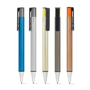 Caneta Click Colorida com Clipe – Alumínio e ABS (81143)