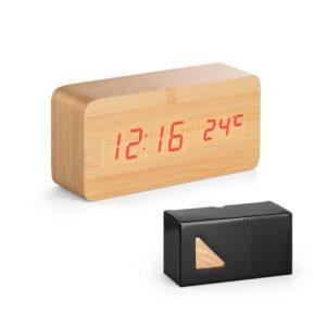 Relógio MDF Calendário, Alarme e Termômetro (97390)