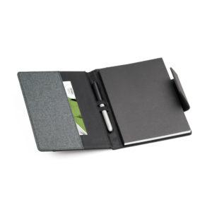 Caderno capa couro sintético removível (93788)