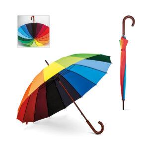 Guarda-chuva com pegada de madeira (99140)